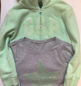 Casaco GAP - verde água + Brinde - 6 anos - GAP