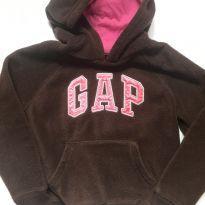 Casaco GAP - Fleece - Marrom - 6 anos - GAP