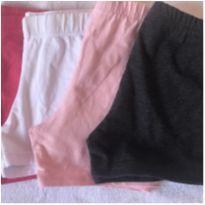 4 shorts de coton - 8 anos - Não informada