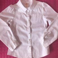 Camisa branca - Gymboree - 7 anos - Gymboree