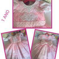 vestido de festa, todo bordado a mão - 1 ano - vestido de festa usado 1 vez, como novo e Bordado Manual