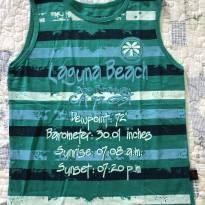 Camiseta Regata Beach - 9 anos - pacific