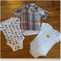 trio de bodys: chic - 3 a 6 meses - Gerber e Amanda Babies
