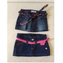 mini saia jeans baby- as mais lindas - 6 meses - Teddy Boom e EPK