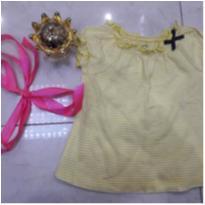 blusinha da carter`s amarela - 6 meses - Carters - Sem etiqueta