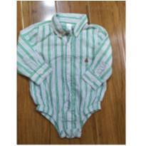 body-camisa da gap - 12 a 18 meses - GAP