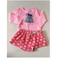 conjuntinho ratinha em tricot - 6 a 9 meses - Zara Baby e Tip Top