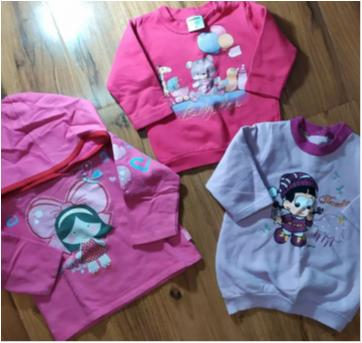 trio de moleton baby - 9 a 12 meses - Kyly e Brandili