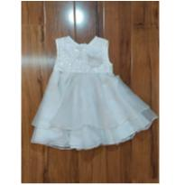 Vestidinho Branco Luxo - 3 anos - Grow up