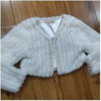 bolero branco luxo peludinho - 3 anos - Petit Cherie