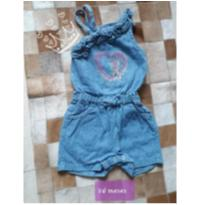 macacão jeans coração - 2 anos - Sem marca