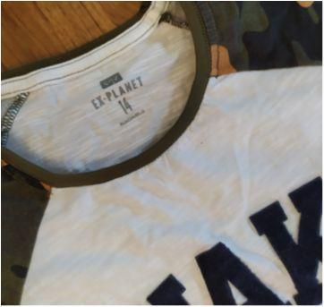 Camisa Camuflada - 14 anos - Ex planet