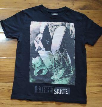 Camiseta Skate and Bull Dog - 6 anos - Zara