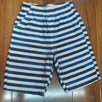 Shorts Listrado Kids - 6 anos - Kyly