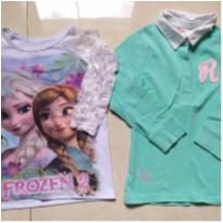 dupla de blusinhas que encantam - 1 ano - H&M e Disney