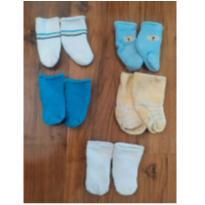 kit meias inverno baby - 0 a 3 meses - lupo e outras