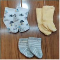 kit meias bebê - 3 a 6 meses - lupo e outras