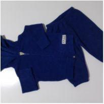Conjunto Moletom com Capuz de Orelhinha  e Zíper - (Azul) (Cód.008) - 0 a 3 meses - Hrradinhos
