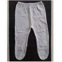 Calça Mijão com Pézinho (Branco) (Cód. 033) - 0 a 3 meses - Não informada