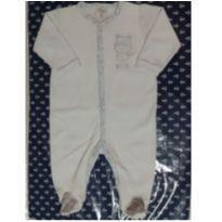 Macacão Plush Bordado Ursinho (Azul bebê) (Cód. 017) - 3 a 6 meses - Tilly Baby