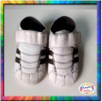 Tênis Bebê com Velcro (Branco) (Cód. 071)