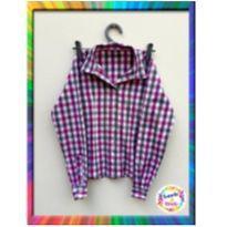 Camisa Xadrez para Menina (Cód. 157) - 6 anos - sem etiqueta