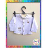 Casaquinho Bebê Bordado - BABY CLASSIC - M - (Creme) (Cód. 074) - 3 a 6 meses - Baby Classic