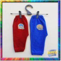 R$ 4,99 cada - 2 Calças mijão Feroz Baby - P/M - (Vermelho e Azul) (Cód. 032) - 3 a 6 meses - Feroz Baby
