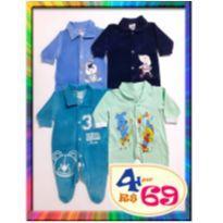 LOTE 4 Macacões Inverno - P - (Cód. 014) - 3 a 6 meses - Sof & Enz Kids e Flaphy