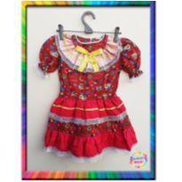 Vestido Caipira Festa Junina/ Julina (Cód. 162) - 4 anos - vestido