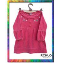 Vestido Plush Bordado RIACHUELO (Pink) (Cód. 165) - 4 anos - Riachuelo