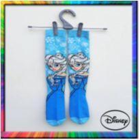 Meia 3/4 - cano alto Elsa Frozen Disney (Azul) (Cód. 140) - 4 anos - Frozen e Disney