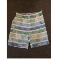 Bermuda Listrada Azul e Verde - 2 anos - Poim, Cherokee e Up Baby