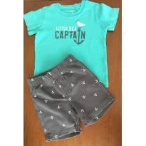 Conjunto shorts e camiseta âncora Cartes - 2 anos - Carter`s