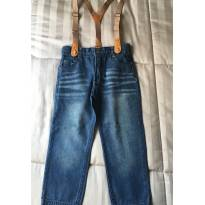 Calça jeans Tip Top com suspensório - 3 anos - Tip Top
