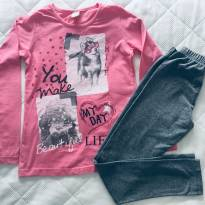 Conjunto Camiseta e legging Brandili - 10 anos - Brandili