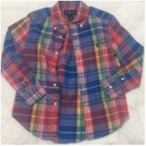 camisa de botão manga longa polo ralph lauren original novíssima - 5 anos - Ralph Lauren