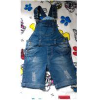 Jardineira jeans - 3 anos - red dot