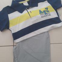 Conjunto de Camisa polo e bermuda - 3 anos - Alakazoo!