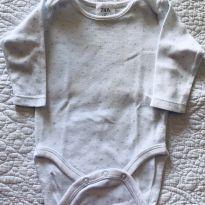 Body Zara Branco e Azul - 0 a 3 meses - Zara e Zara Baby