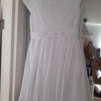Vestido branco de renda - 14 anos - cacau baby