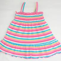 Vestido Arco-íris!! - 0 a 3 meses - Faded Glory (EUA)