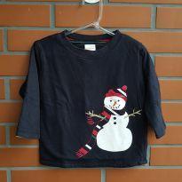 Camiseta Manga Longa - 12 a 18 meses - Gymboree
