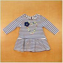 Vestido GAP Listras 3 a 6 meses - 3 a 6 meses - GAP