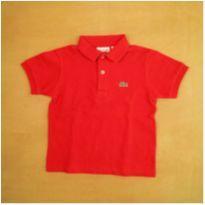 Camiseta Polo Lacoste Vermelha 4 anos