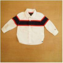 Camisa Tommy Hilfiger 6 a 9 meses - 6 a 9 meses - Tommy Hilfiger