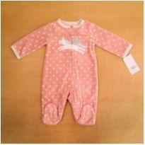 Macacão para Bebê Fleece Rosa Unicórnio Carter's TAM Recém Nascido Novo com etiq - Recém Nascido - Carter`s