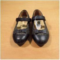 Sapato Preto Chicco Tam 26 Semi Novo - 26 - Chicco