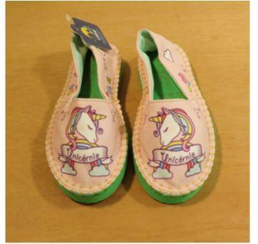 Alpargata Unicórnio Rosa tam 25/26 - 25 - Cupcake Shoes