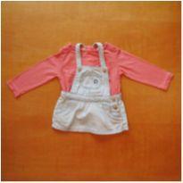 Vestido Jardineira e Blusinha Zara 3 - 6 meses - 3 a 6 meses - Zara